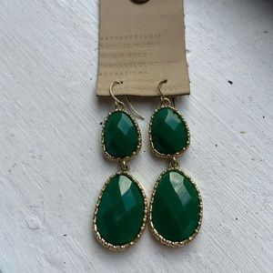 Emerald Green Statement Earrings
